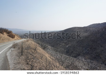 California 2020 wildfire season desolation Royalty-Free Stock Photo #1918194863