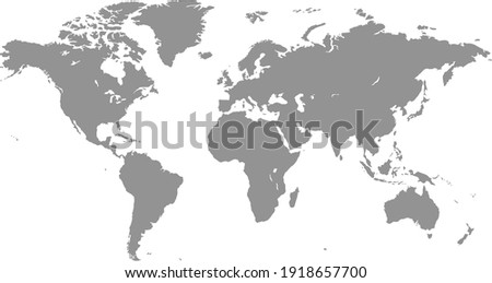 World map color vector modern. Silhouette map. Royalty-Free Stock Photo #1918657700