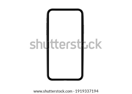 Smartphone Mockup, Highly Detailed phone Isolated for Infographic Global Business  web site design app -include clipping pat