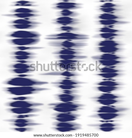 Striped tie dye seamless pattern. Vertical repeat blue and white background for textile, interior home prints, wallpapers and wrapping, Royalty-Free Stock Photo #1919485700