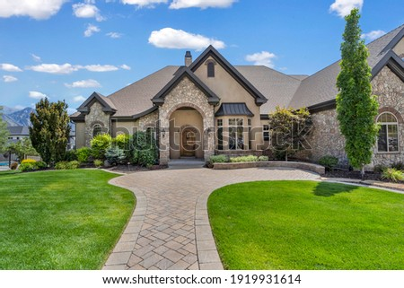 exterior real estate photography in utah  Royalty-Free Stock Photo #1919931614