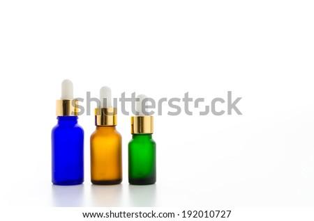 Cosmetics bottles isolated on white #192010727