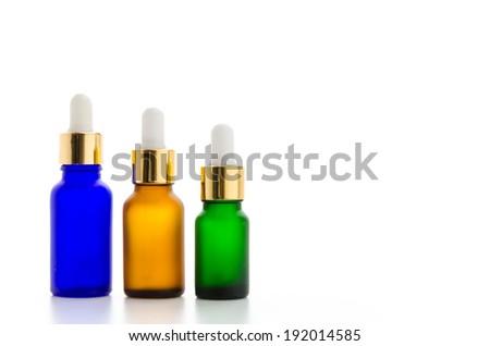 Cosmetics bottles isolated on white #192014585