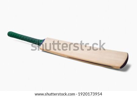 Cricket bat isolated on white background Royalty-Free Stock Photo #1920173954