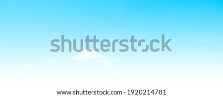 Blue sky and white clouds floated in the sky on a clear day with warm sunshine combined with cool breeze blowing against the body resulting in a miraculous refreshing like paradise Royalty-Free Stock Photo #1920214781