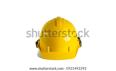 yellow safety hat isolated on white background Royalty-Free Stock Photo #1921492292