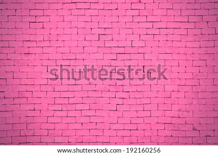 Background of pink brick wall pattern texture. #192160256