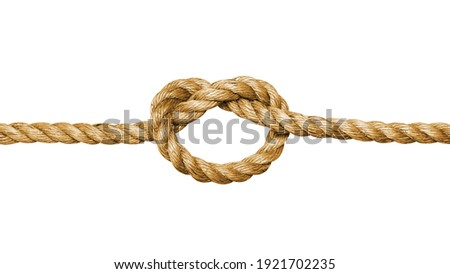 Rope with a knot isolated on white background Royalty-Free Stock Photo #1921702235