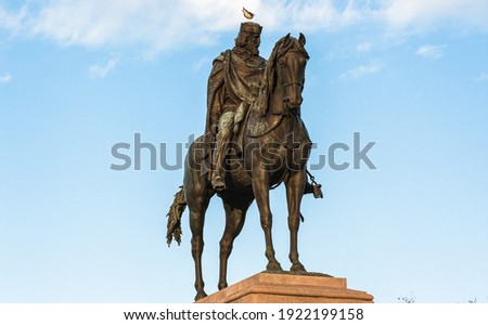 Giuseppe Garibaldi Italian Hero and Patriot Bronze Monument at Janiculum Hill in Rome Royalty-Free Stock Photo #1922199158