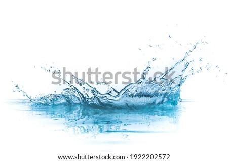 water splash isolated on white background Royalty-Free Stock Photo #1922202572