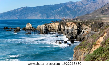 Southern tip of Big Sur, California Royalty-Free Stock Photo #1922213630