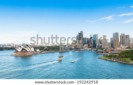 Circular Quay and Opera House, Sydney, Australia Royalty-Free Stock Photo #192242918