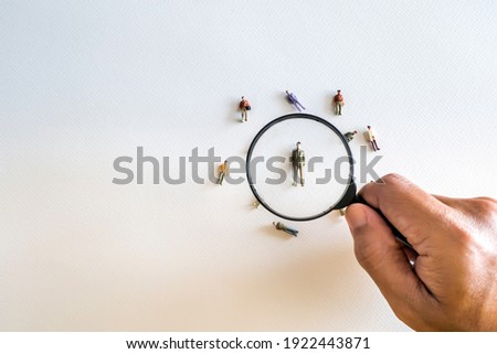 Human Resource Management and Recruitment and Hiring concept. Find leader. Find team. Royalty-Free Stock Photo #1922443871