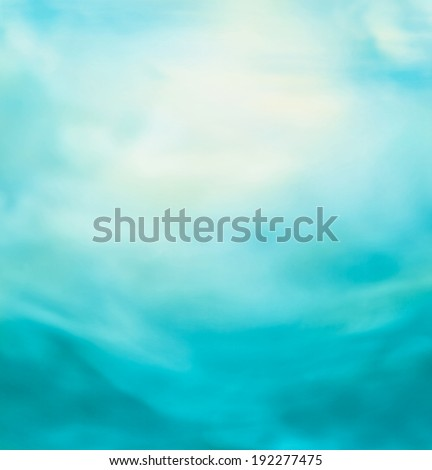 Spring or summer abstract nature background with blue sea and sky. Ocean blur #192277475