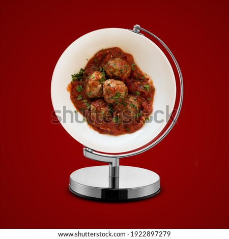 Meatball day in March, 9 March, world meatball day, meatball day, meatball, Royalty-Free Stock Photo #1922897279