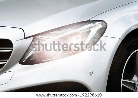 silver lamp of car  #192298610