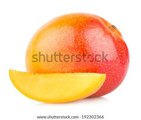 mango fruit isolated on white background #192302366