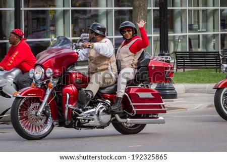 """Madison, Wisconsin - May 10 : Motorcycle rally in the state capitol of Wisconsin for """"motorcycle awareness month"""" , May 10 2014 in Madison Wisconsin #192325865"""