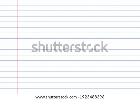 Lined notebook paper for background Royalty-Free Stock Photo #1923488396