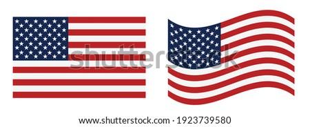 USA flag vector illustration. eps 10 vector  Royalty-Free Stock Photo #1923739580