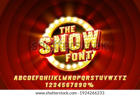 Show font set collection, letters and numbers symbol. Vector illustration Royalty-Free Stock Photo #1924266233