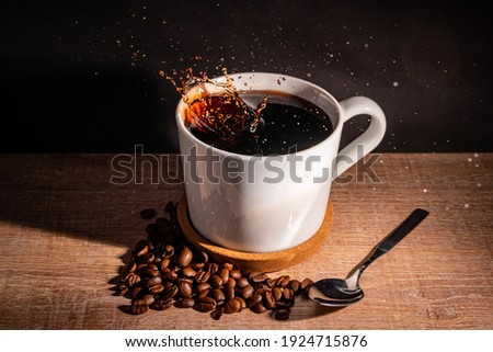 Coffee picture with coffee beans