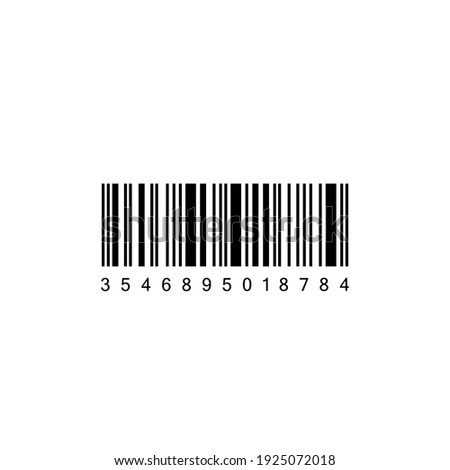 Realistic Barcode icon isolated. Bar code vector icon. Vector illustration