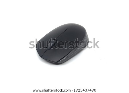 A picture of Black Wireless Mouse in a white background.