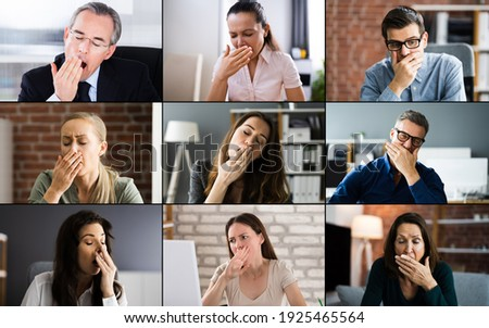 Bored Team Video Conference Conferencing Webinar Call