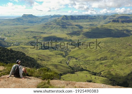 Kudu Falls View from the top and side Royal Natal National Park Ukhahlamba World Heritage site Royalty-Free Stock Photo #1925490383