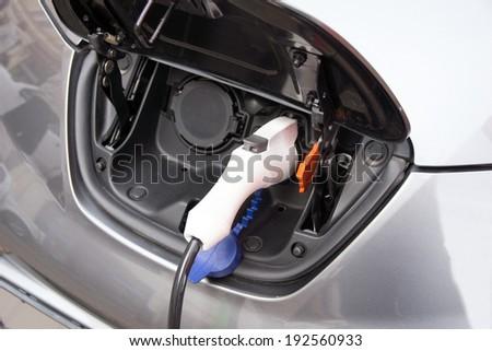 Recharging an electric car / electric car #192560933
