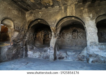 Uplistsikhe Cave City, Cave Town. Old Ancient Cave in Georgia Royalty-Free Stock Photo #1925856176