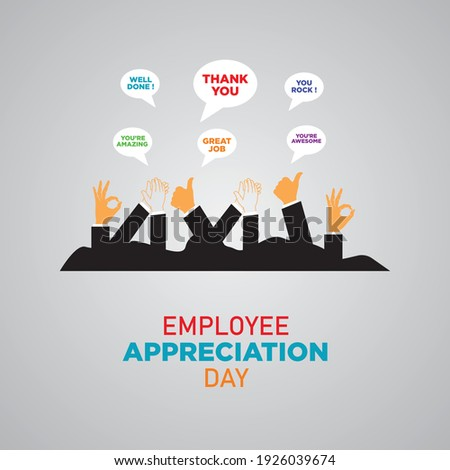 Employee Appreciation Day. First Friday in March. Holiday concept. Template for background, banner, card, poster. Vector illustration. Royalty-Free Stock Photo #1926039674