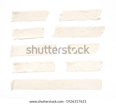 close up of adhesive tape on white background Royalty-Free Stock Photo #1926317621