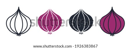 onion icon. onion vegetable symbol template for graphic and web design collection logo vector illustration Royalty-Free Stock Photo #1926383867