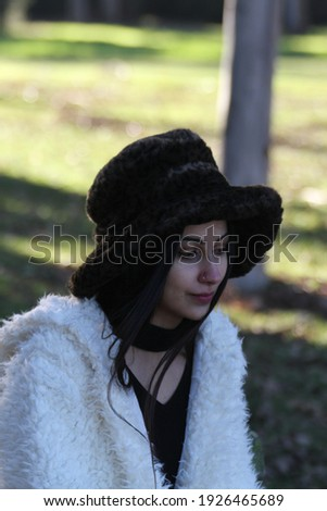Middle Eastern girl in a park Royalty-Free Stock Photo #1926465689