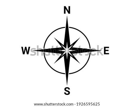 Flat compass direction illustration. North symbol