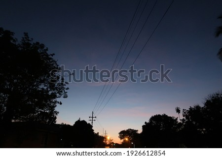blue sky at dawn in the morning Royalty-Free Stock Photo #1926612854