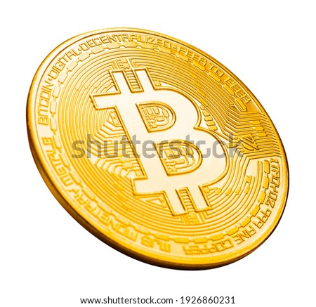 bitcoin cryptocurrency isolated on white