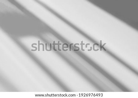 Abstract shadow and striped diagonal light blur background on white wall  from window,  architecture dark gray and sunshine diagonal geometric effect overlay for backdrop and mockup design Royalty-Free Stock Photo #1926976493