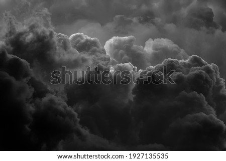 Dramatic black smoke from a fire. Royalty-Free Stock Photo #1927135535