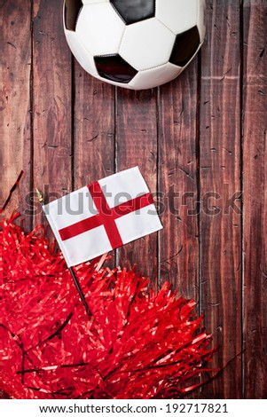 Soccer: Ball With England Flag Background #192717821