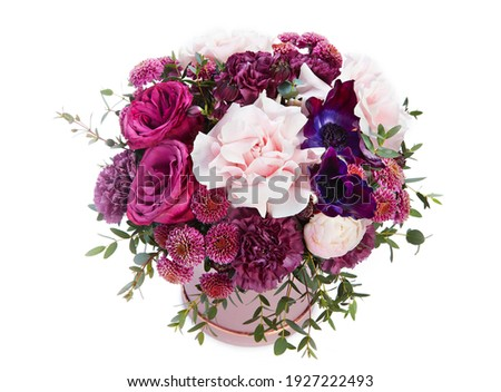 wedding bouquet  isolated on white. Fresh, lush bouquet of colorful flowers Royalty-Free Stock Photo #1927222493