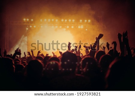 People At Music Concert HD Background Royalty-Free Stock Photo #1927593821