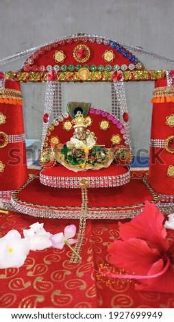 Little Krishna Image decorated Statue Photograph beautiful Photo Happy Janmashtami Kanha Birthday Occasion Hindu Religion