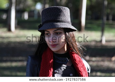 Middle Eastern girl in a park Royalty-Free Stock Photo #1927837586