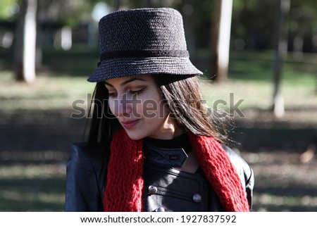 Middle Eastern girl in a park Royalty-Free Stock Photo #1927837592