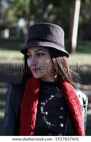 Middle Eastern girl in a park Royalty-Free Stock Photo #1927837601