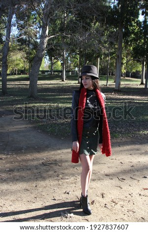 Middle Eastern girl in a park Royalty-Free Stock Photo #1927837607