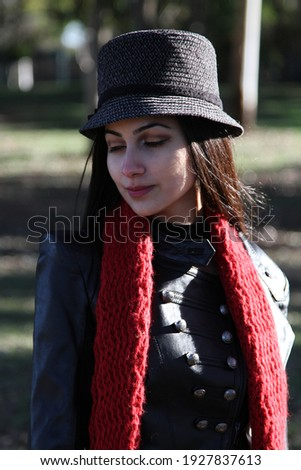 Middle Eastern girl in a park Royalty-Free Stock Photo #1927837613